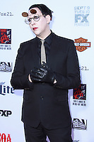HOLLYWOOD, LOS ANGELES, CA, USA - SEPTEMBER 06: Marilyn Manson arrives at the Los Angeles Premiere Of FX's 'Sons Of Anarchy' Season 7 held at the TCL Chinese Theatre on September 6, 2014 in Hollywood, Los Angeles, California, United States. (Photo by David Acosta/Celebrity Monitor)