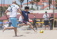 Huntington Beach, CA - Wednesday May 01, 2019: U.S. Men's Beach National team vs Lazio beach scrimmage at Huntington State Beach.