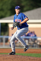 August 7 2008:  Pitcher Robert Bell of the Auburn Doubledays, Class-A affiliate of the Toronto Blue Jays, during a game at Dwyer Stadium in Batavia, NY.  Photo by:  Mike Janes/Four Seam Images