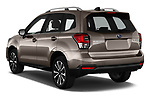 Car pictures of rear three quarter view of a 2019 Subaru Forester Luxury 5 Door SUV angular rear