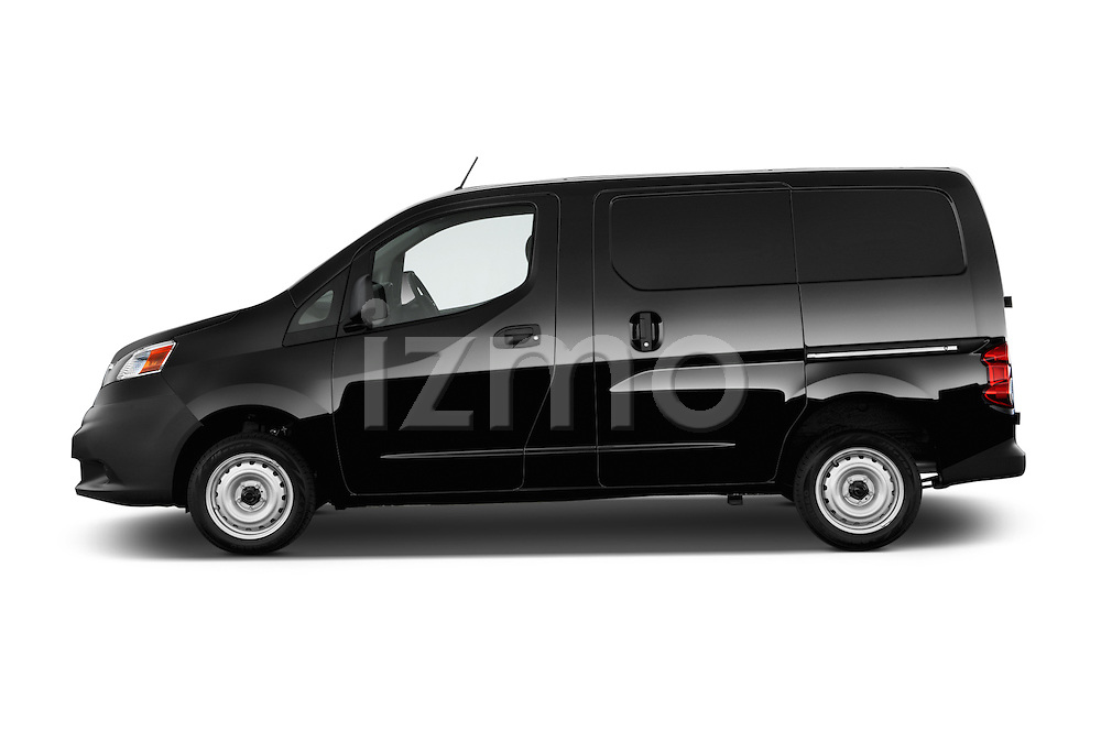 Car Driver side profile view of a 2014 Nissan NV 200 Cargo S 5 Door Van Side View