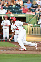 Springfield Cardinals designated hitter Curt Smith (18) at bat during a game against the Frisco Rough Riders on June 1, 2014 at Hammons Field in Springfield, Missouri.  Springfield defeated Frisco 3-2.  (Mike Janes/Four Seam Images)