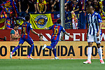 Leo Messi of FC Barcelona celebrates after scoring a goal during the match of  Copa del Rey (King's Cup) Final between Deportivo Alaves and FC Barcelona at Vicente Calderon Stadium in Madrid, May 27, 2017. Spain.. (ALTERPHOTOS/Rodrigo Jimenez)