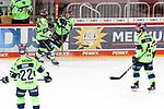 Eishockey DEL 37. Spieltag: Düsseldorfer EG vs <br /> ERC Ingolstadt am 07.04.2021 im ISS Dome in Düsseldorf<br /> <br /> Torjubel der Ingolstädter  nach dem 2:4<br /> <br /> Foto © PIX-Sportfotos *** Foto ist honorarpflichtig! *** Auf Anfrage in hoeherer Qualitaet/Aufloesung. Belegexemplar erbeten. Veroeffentlichung ausschliesslich fuer journalistisch-publizistische Zwecke. For editorial use only.