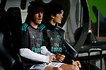 Real Madrid Gareth Bale and Jesus Vallejo during La Liga match between Real Madrid and Athletic Club at Santiago Bernabeu Stadium in Madrid. April 19, 2017. (ALTERPHOTOS/Borja B.Hojas)