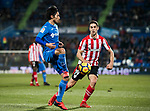 Gaku Shibasaki of Getafe CF (L) fights for the ball with Sabin Merino Zuloaga of Athletic Club de Bilbao (R) during the La Liga 2017-18 match between Getafe CF and Athletic Club at Coliseum Alfonso Perez on 19 January 2018 in Madrid, Spain. Photo by Diego Gonzalez / Power Sport Images