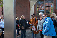 Memorial sculpture dedication and  celebration of Kip Tiernan on Dartmouth Street by Old South Church Boston MA 10.6.18