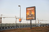 ANGOLA Luanda, election poster of MPLA leader Jose Eduardo dos Santos