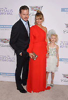 BRENTWOOD, CA - JUNE 11: Actor Eric Dane, wife/actress Rebecca Gayheart-Dane and daughter Billie Beatrice Dane arrive at the 15th Annual Chrysalis Butterfly Ball at a private residence on June 11, 2016 in Brentwood, California.