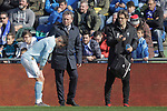 Celta de Vigo's Hugo Mallo injured  during La Liga match. February 09,2019. (ALTERPHOTOS/Alconada)