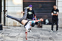 Breakdancers in the streets of Athens, Greece