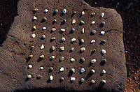 Hawaiian game konane, played similar to checkers, Lapakahi, Big island of Hawaii