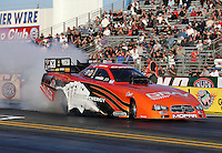 Feb. 17, 2013; Pomona, CA, USA; NHRA funny car driver Johnny Gray during the Winternationals at Auto Club Raceway at Pomona. Mandatory Credit: Mark J. Rebilas-