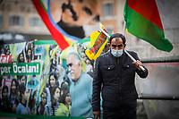 17.03.2021 - Freedom For Ocalan - Kurdish Demo Outside The Italian Parliament