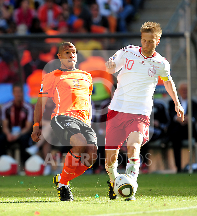 10 Martin JORGENSEN during the 2010 World Cup Soccer match between Denmark and Nederland played at Soccer City Stadium in Johannesburg South Africa on 14 June 2010.