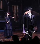 """Sophia Anne Caruso  during the Broadway Opening Night Performance Curtain Call for """"Beetlejuice"""" at The Winter Garden on April 25, 2019 in New York City."""