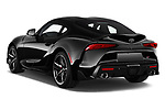 Car pictures of rear three quarter view of 2020 Toyota GR-Supra Premium 2 Door Coupe Angular Rear