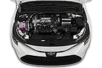 Car Stock 2020 Toyota Corolla LE 4 Door Sedan Engine  high angle detail view