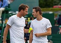 London, England, 30 june, 2016, Tennis, Wimbledon, Men's doubles: Matwe Middelkoop (NED) and his partner Wesley Koolhof  (NED) (R)<br /> Photo: Henk Koster/tennisimages.com