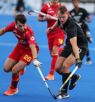 Dylan Thomas during the Pro League Hockey match between the Blacksticks men and the Spain, Nga Punawai, Christchurch, New Zealand, Sunday 16 February 2020. Photo: Simon Watts/www.bwmedia.co.nz