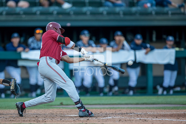 STANFORD, CA - JUNE 6: Christian Robinson during a game between UC Irvine and Stanford Baseball at Sunken Diamond on June 6, 2021 in Stanford, California.