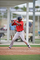 Boston Red Sox Marino Campana (48) bats during a minor league Spring Training game against the Canada Junior National Team on March 31, 2017 at JetBlue Park in Fort Myers, Florida. (Mike Janes/Four Seam Images)