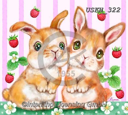 Kayomi, EASTER, OSTERN, PASCUA, paintings+++++,USKH322,#e#, EVERYDAY ,rabbits