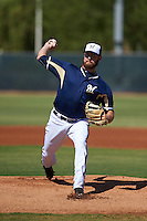 Milwaukee Brewers pitcher Adrian Houser (51) during an instructional league game against the Cleveland Indians on October 8, 2015 at the Maryvale Baseball Complex in Maryvale, Arizona.  (Mike Janes/Four Seam Images)