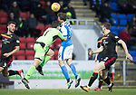 St Johnstone v Partick Thistle…27.01.18…  McDiarmid Park…  SPFL<br />Tomas Cerny takes out David McMillan for a penalty<br />Picture by Graeme Hart. <br />Copyright Perthshire Picture Agency<br />Tel: 01738 623350  Mobile: 07990 594431