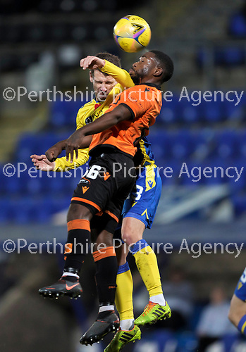 St Johnstone v Dundee United…10.11.20   McDiarmid Park      BetFred Cup<br />Craig Bryson and Jeando Fuchs<br />Picture by Graeme Hart.<br />Copyright Perthshire Picture Agency<br />Tel: 01738 623350  Mobile: 07990 594431