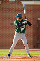 Anthony Vega #16 of the Manhattan Jaspers at bat against the High Point Panthers at Willard Stadium on March 9, 2012 in High Point, North Carolina.  The Panthers defeated the Jaspers 11-6.  (Brian Westerholt/Four Seam Images)