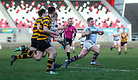 Tuesday 3rd March 2020 | RSA vs RBAI<br /> <br /> Armagh's James Allen races clear to score during the Ulster Schools' Cup Semi-Final between Royal School Armagh and RBAI at Kingspan Stadium, Ravenhill Park, Belfast, Northern Ireland. Photo by John Dickson / DICKSONDIGITAL