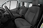 Front seat view of a 2019 Ford Transit Wagon 350 XLT Wagon Low Roof 60/40 Pass. 148WB 5 Door Passenger Van front seat car photos