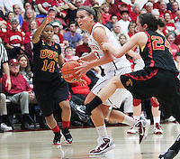 STANFORD, CA - January 22, 2011:  Jeanette Pohlen during Stanford's 95-51 victory over USC at Stanford, California on January 22, 2011.