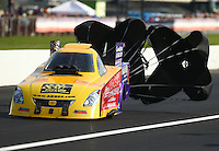 Sep 4, 2016; Clermont, IN, USA; NHRA funny car driver Bob Bode during qualifying for the US Nationals at Lucas Oil Raceway. Mandatory Credit: Mark J. Rebilas-USA TODAY Sports