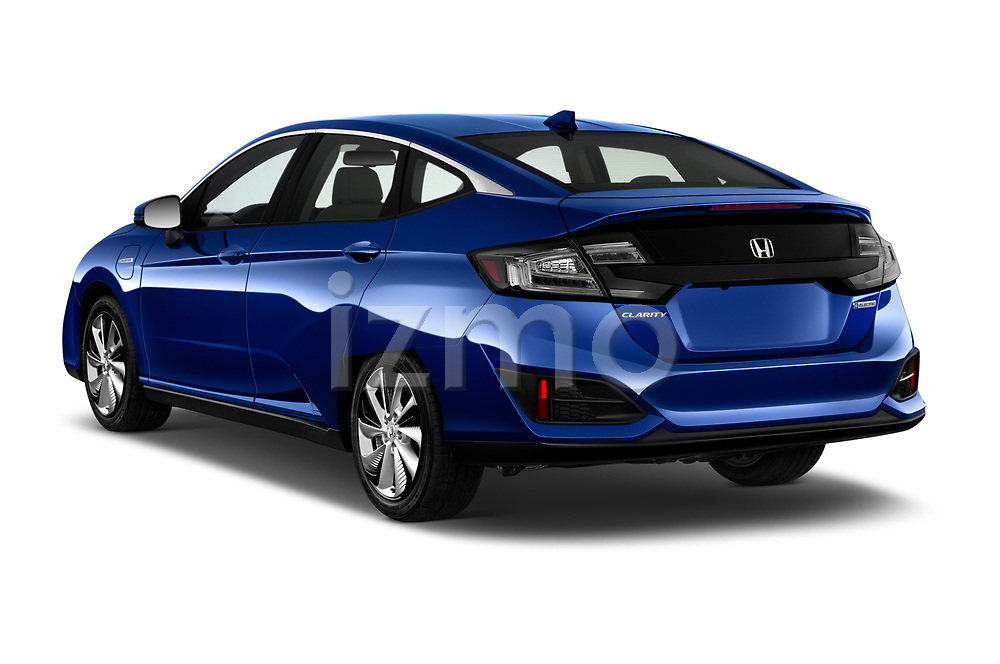 Car pictures of rear three quarter view of a 2017 Honda Clarity Electric 5 Door Hatchback angular rear