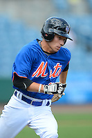 Outfielder Tolly Filotei (11) of Daphne High Schooli n Daphne, Alabama playing for the New York Mets scout team during the East Coast Pro Showcase on July 31, 2013 at NBT Bank Stadium in Syracuse, New York.  (Mike Janes/Four Seam Images)