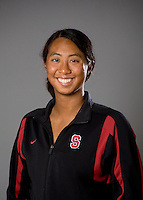 Gayle Lee of the Stanford synchronized swimming team.