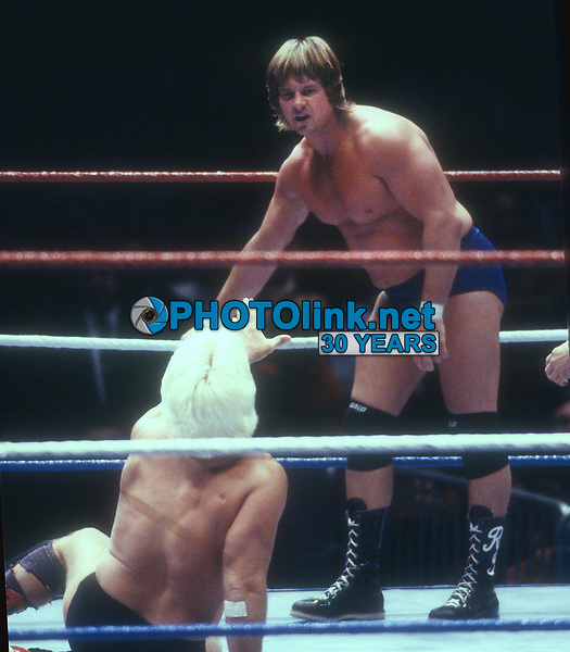 Roddy Piper vs Ric Flair, 1989, Photo By John Barrett/PHOTOlink