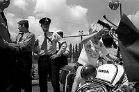 MONTREAL, CANADA - File Photo - Kids attend an outdoor police day, June 30, 1973.<br /> <br /> File Photo : Agence Quebec Presse - Alain Renaud