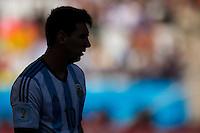 Silhouette of Lionel Messi of Argentina