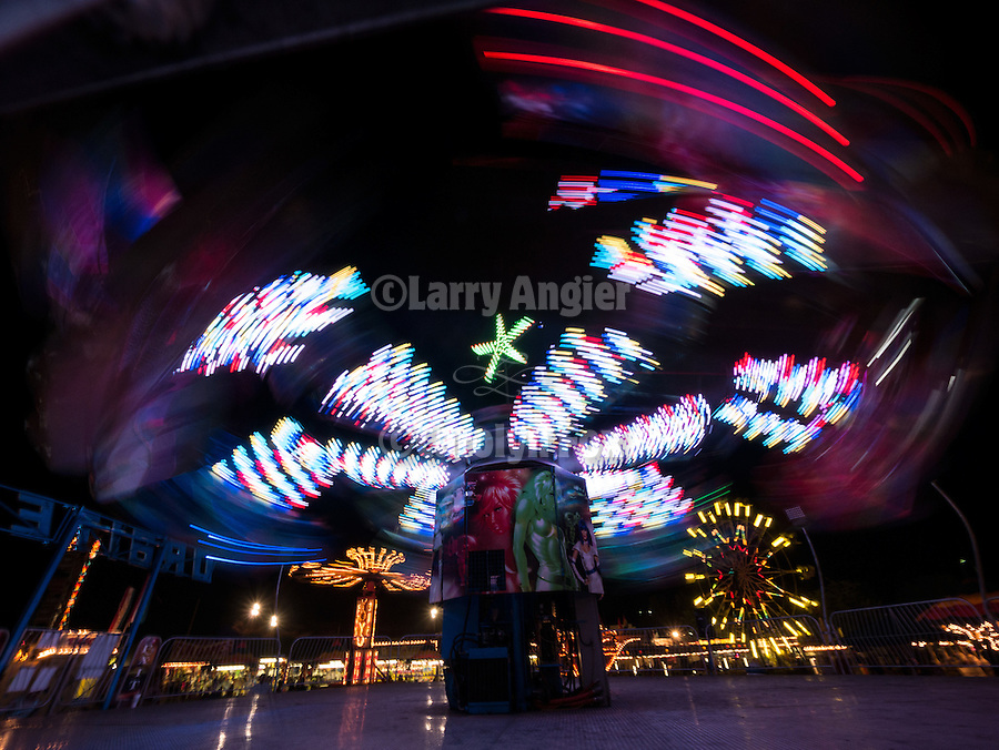 4th day of the 76th Amador County Fair, Plymouth, Calif.<br /> <br /> Carnival rides and lights at night