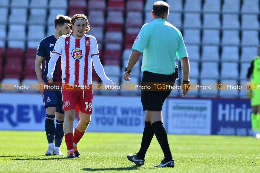 Arthur Read of Stevenage FC during Stevenage vs Bradford City, Sky Bet EFL League 2 Football at the Lamex Stadium on 5th April 2021