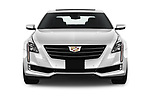 Car photography straight front view of a 2019 Cadillac CT6 Luxury 4 Door Sedan Front View