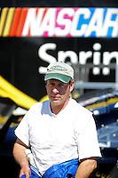 Feb 07, 2009; Daytona Beach, FL, USA; NASCAR Sprint Cup Series driver Kirk Shelmerdine during practice for the Daytona 500 at Daytona International Speedway. Mandatory Credit: Mark J. Rebilas-