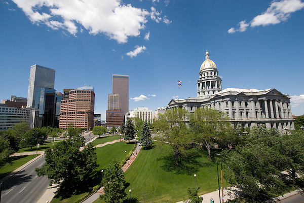 Colorado State Capitol and Greek Corinthian Architecture in Downtown Denver, Colorado. .  John offers private photo tours in Denver, Boulder and throughout Colorado. Year-round Colorado photo tours.