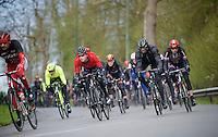 Daniel Teklehaimanot (ERI/MTN-Qhubeka) battling the harsh racing conditions<br /> <br /> 102nd Liège-Bastogne-Liège 2016