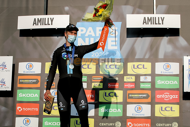 Cees Bol (NED) Team DSM wins Stage 2 of Paris-Nice 2021, running 188km from Oinville-sur-Montcient to Amilly, France. 8th March 2021.<br /> Picture: ASO/Fabien Boukla | Cyclefile<br /> <br /> All photos usage must carry mandatory copyright credit (© Cyclefile | ASO/Fabien Boukla)
