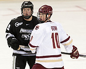 Robbie Hennessey (PC - 25), Christopher Brown (BC - 10) - The Boston College Eagles defeated the visiting Providence College Friars 3-1 on Friday, October 28, 2016, at Kelley Rink in Conte Forum in Chestnut Hill, Massachusetts.The Boston College Eagles defeated the visiting Providence College Friars 3-1 on Friday, October 28, 2016, at Kelley Rink in Conte Forum in Chestnut Hill, Massachusetts.