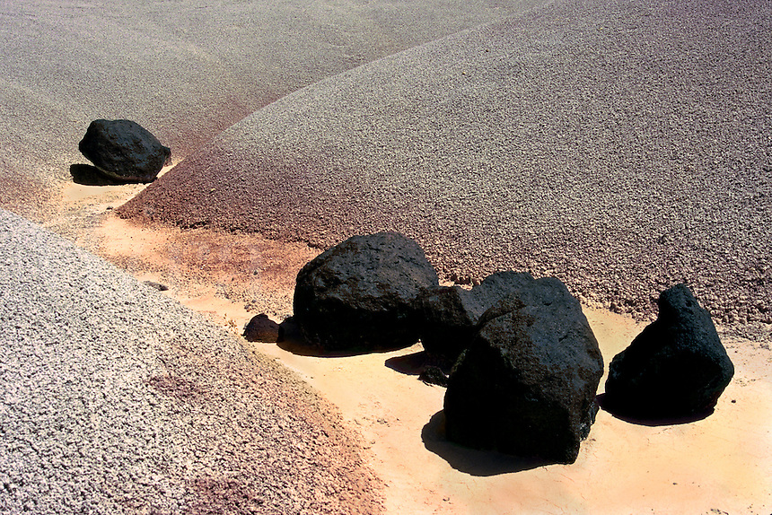 Lava Rocks at Bentonite Hills  Capitol Reef National Park. Utah, Bentonite Hills, Capitol Reef National Park.